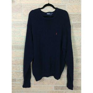 Vintage Polo Ralph Lauren Navy Blue Sweater XL